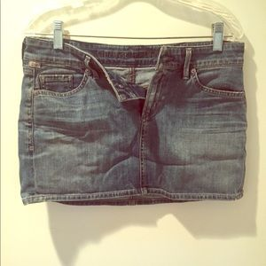 Woman's  blue jean skirt